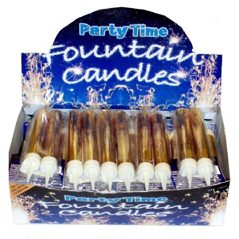 24 x Ice Fountain Candles 2 Packs GOLD Cake Sparklers (48) - Wholesale Bulk Buy